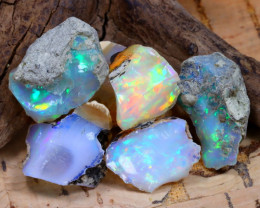 Welo Rough 34.53Ct Natural Ethiopian Play Of Color Rough Opal D2506