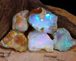 Welo Rough 42.06Ct Natural Ethiopian Play Of Color Rough Opal D2610