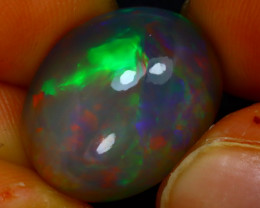 Welo Opal 13.60Ct Natural Ethiopian Play of Color Black Opal JR154/A55