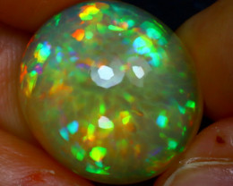 Welo Opal 13.31Ct Natural Ethiopian Play of Color Opal JR155/A55