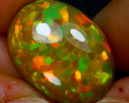 Welo Opal 13.92Ct Natural Honeycomb Ethiopian Play of Color Opal JR158/A55