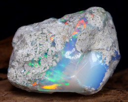 Welo Rough 29.41Ct Natural Ethiopian Play Of Color Rough Opal F2706