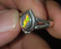 .5ct Gem Grade Australian Opal Doublet Ring