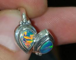 1TCW Gem Grade Australian Opal Doublet Ring