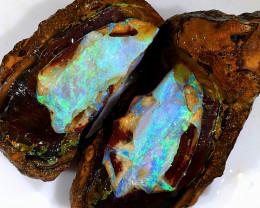 275ct Pair of Natural Boulder Opal Rough [BSR-022]