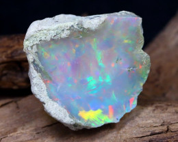 Welo Rough 13.41Ct Natural Ethiopian Play Of Color Rough Opal F2901