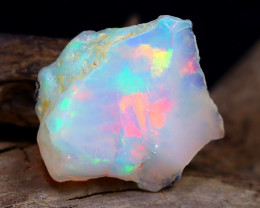 Welo Rough 7.37Ct Natural Ethiopian Play Of Color Rough Opal F2908