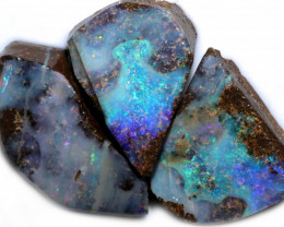 121.95 CTS BLUE BOULDER OPAL ROUGH -  [PS214]