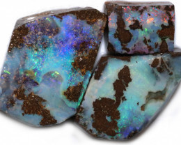 137.11 CTS BLUE BOULDER OPAL ROUGH -  [PS215]