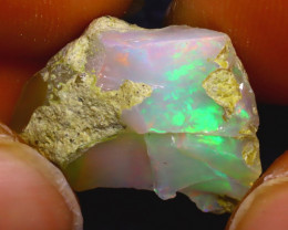 10.49Ct Multi Color Play Ethiopian Welo Opal Rough J0311/R2