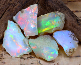 Welo Rough 28.55Ct Natural Ethiopian Play Of Color Rough Opal F0111