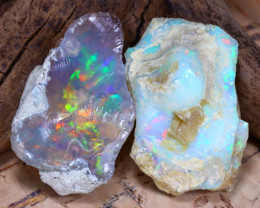 Welo Rough 27.81Ct Natural Ethiopian Play Of Color Rough Opal D0204