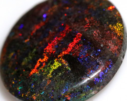 18.50 CTS ANDAMOOKA  MATRIX OPAL RED ORANGE FIRE[SEDA7601]