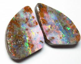 61.48ct Queensland Boulder Opal Polished Split Pair