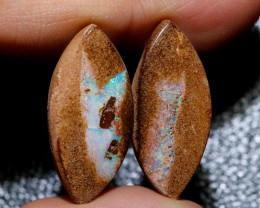 19.42 CTS WELL POLISHED PAIR YOWAH STONES [FJP3681]