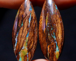 38.10 CTS WELL POLISHED PAIR YOWAH STONES [FJP3698]
