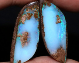 38.82 CTS WELL POLISHED PAIR YOWAH STONES [FJP3718]