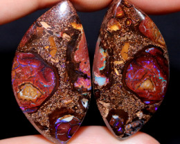83.06 CTS WELL POLISHED PAIR YOWAH STONES5 [FJP3721]