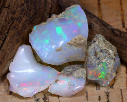 Welo Rough 37.50Ct Natural Ethiopian Play Of Color Rough Opal F0502