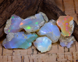Welo Rough 45.45Ct Natural Ethiopian Play Of Color Rough Opal F0506