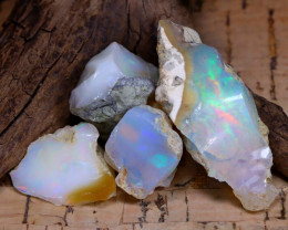 Welo Rough 46.40Ct Natural Ethiopian Play Of Color Rough Opal F0507