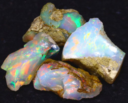 20.20Ct Multi Color Play Ethiopian Welo Opal Rough JF0711/R2