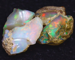 25.00Ct Multi Color Play Ethiopian Welo Opal Rough JF0716/R2