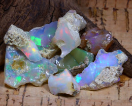 Welo Rough 48.31Ct Natural Ethiopian Play Of Color Rough Opal F0605