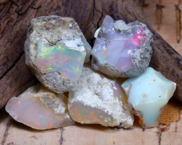 Welo Rough 43.14Ct Natural Ethiopian Play Of Color Rough Opal F0610