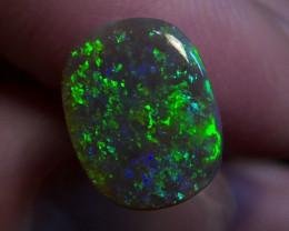 1.96ct Lightning Ridge Solid Gem Black Opal Multiple Gem colours