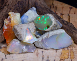 Welo Rough 41.64Ct Natural Ethiopian Play Of Color Rough Opal D0601