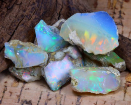 Welo Rough 43.35Ct Natural Ethiopian Play Of Color Rough Opal D0602