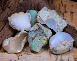 Welo Rough 42.39Ct Natural Ethiopian Play Of Color Rough Opal D0605