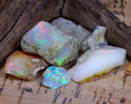 Welo Rough 41.47Ct Natural Ethiopian Play Of Color Rough Opal D0606