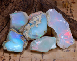 Welo Rough 41.37Ct Natural Ethiopian Play Of Color Rough Opal D0607
