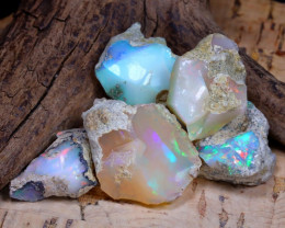 Welo Rough 43.21Ct Natural Ethiopian Play Of Color Rough Opal D0608
