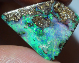 8.05 ct$1 NR Beautiful Gem Multi Color Natural Queensland Boulder Opal