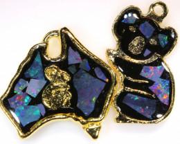 **Australian Made**Coober Pedy  Opal Gold Plated Pendant J-2