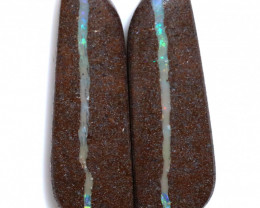 47.09 CTS BOULDER PAIR-WELL POLISHED  [FJP3758]
