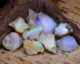 Welo Rough 46.80Ct Natural Ethiopian Play Of Color Rough Opal F0709