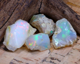 Welo Rough 35.35Ct Natural Ethiopian Play Of Color Rough Opal F0710