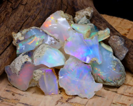 Welo Rough 47.97Ct Natural Ethiopian Play Of Color Rough Opal F0803
