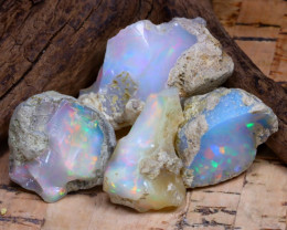 Welo Rough 46.62Ct Natural Ethiopian Play Of Color Rough Opal F0806