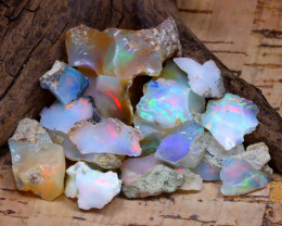 Welo Rough 41.92Ct Natural Ethiopian Play Of Color Rough Opal F0807