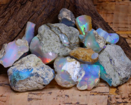 Welo Rough 56.55Ct Natural Ethiopian Play Of Color Rough Opal F0811