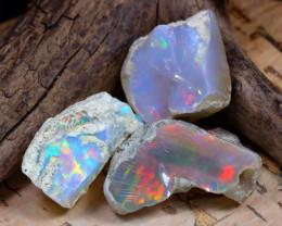 Welo Rough 40.81Ct Natural Ethiopian Play Of Color Rough Opal E0805