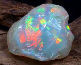 Welo Rough 13.12Ct Natural Ethiopian Play Of Color Rough Opal E0808