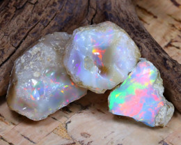 Welo Rough 49.82Ct Natural Ethiopian Play Of Color Rough Opal E0906