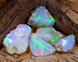 Welo Rough 35.92Ct Natural Ethiopian Play Of Color Rough Opal E0910