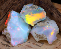 Welo Rough 35.78Ct Natural Ethiopian Play Of Color Rough Opal F0906